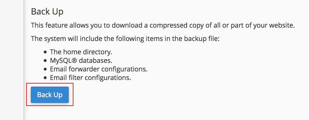 نسخه پشتیبان وردپرس