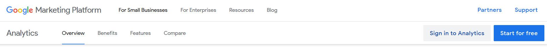 عضویت گوگل آنالیتیکس
